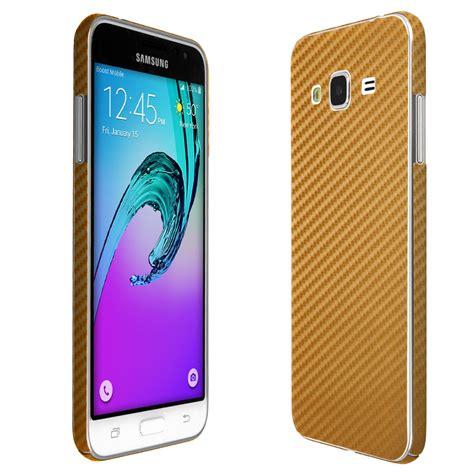 Samsung J3 Gold skinomi techskin samsung galaxy j3 gold carbon fiber skin protector