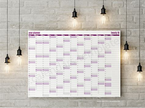 yearly calendar planner template best year planner 2018 template printable planner
