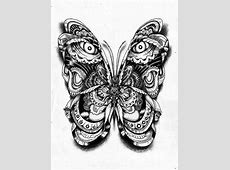 my super duper butterfly Easy Tribal Animal Drawings