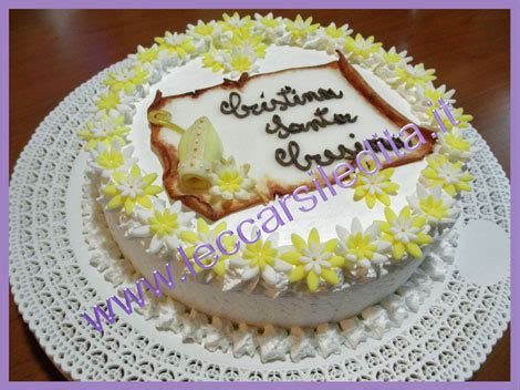 How To Decorate A Cake At Home by Leccarsi Le Dita Torta Cresima