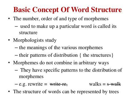 brief introduction of a brief introduction of morphology