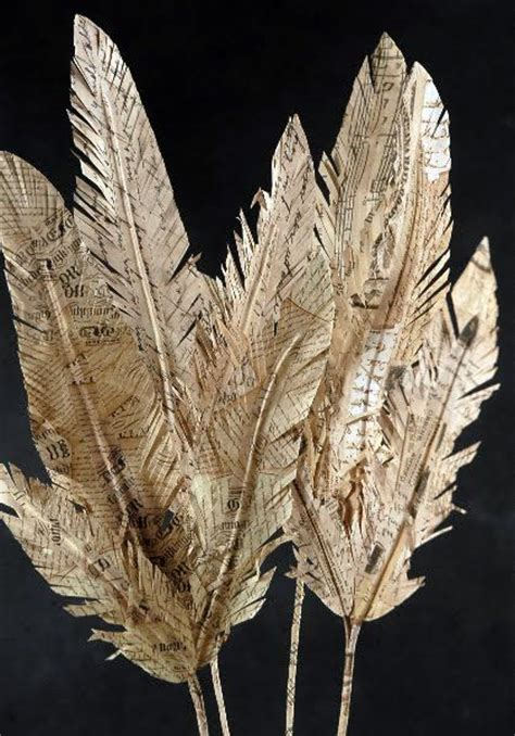 Make Paper Feathers - 25 best ideas about book on recycled