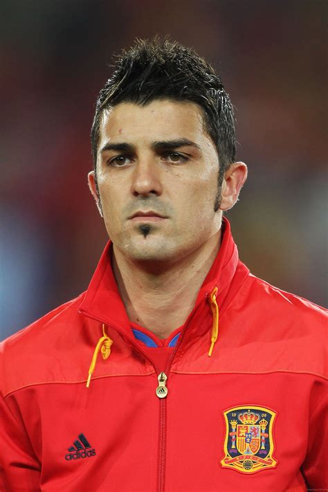 nice hairstyle of david villa