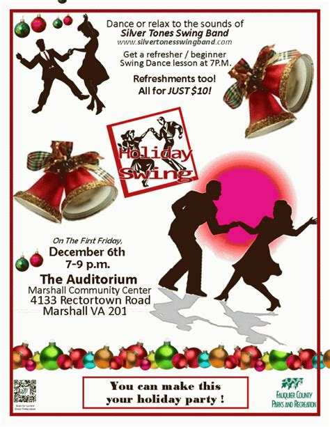 swing holidays holiday dance and big band concert fauquier now calendar