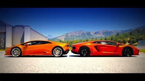 Vs Lamborghini Race Lamborghini Hurac 225 N Vs Lamborghini Aventador Drag Race