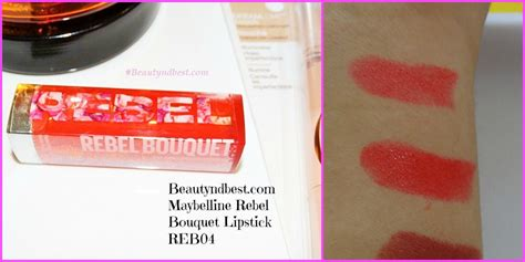 Lipstik Maybelline Rebel Bouquet maybelline rebel bouquet lipstick reb04 review swatches