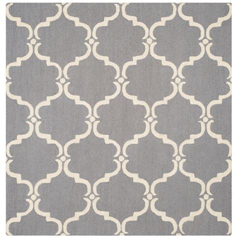 6 foot square rug safavieh cambridge gray ivory 6 ft x 6 ft square area rug cam703d 6sq the home depot