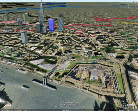 section lines on google earth 3d tube map in google earth the route tubewalker the
