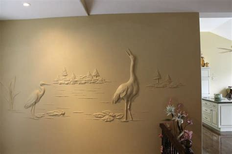 Wall Murals Of Trees this drywall contractor makes true works of art