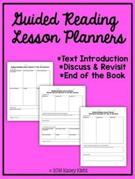 guided reading lesson plan template 3rd grade 17 best ideas about lesson plan templates on