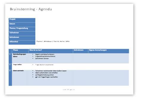 Word Vorlage Agenda Brainstorming Vorlagen 42 Fragen