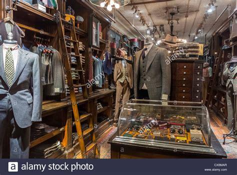 new york ny usa inside luxury s clothing store at