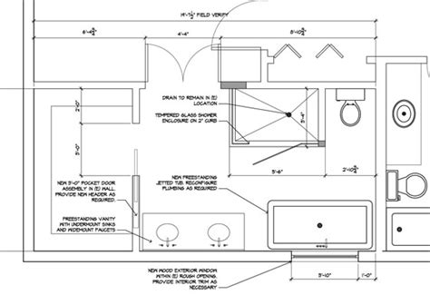 bathroom renovation floor plans master bath remodel planning the space the ravenna