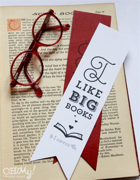 printable homemade bookmarks i like big books i cannot lie printable funny valentine