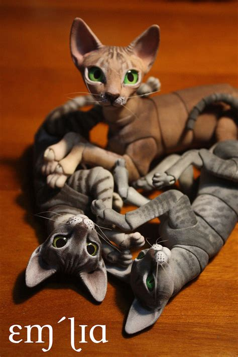 jointed doll oc oleum cat pile i got my oleum bjd cat kit about a week