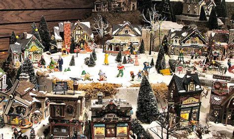 department 56 original snow village series display
