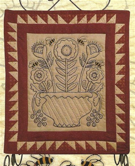 design pattern kathy sierra primitive folk art embroidery quilt pattern may day