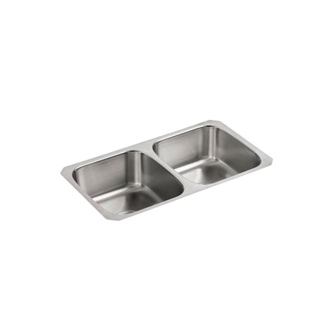 Undercounter Kitchen Sink Kohler Undertone Undercounter Stainless Steel 32 In Bowl Kitchen Sink K 3180 Na The