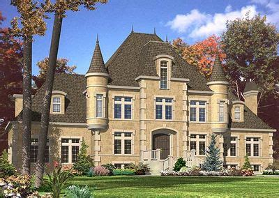 4 bed chateau house plan 9025pd architectural