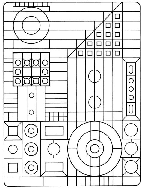 coloring pages printable geometric free printable geometric coloring pages for kids