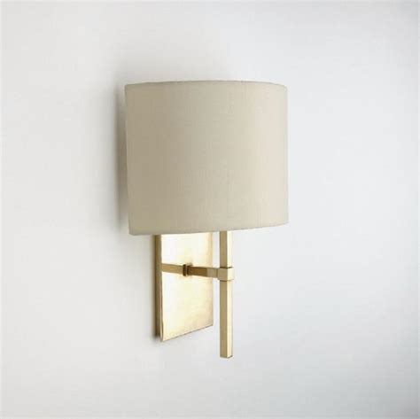 Shades For Wall Sconces Wall Mounted Single Arm Sconce With Fabric Half Shade