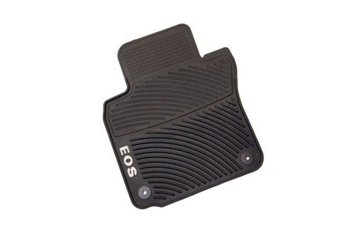 volkswagen eos mats 174 black rubber retention