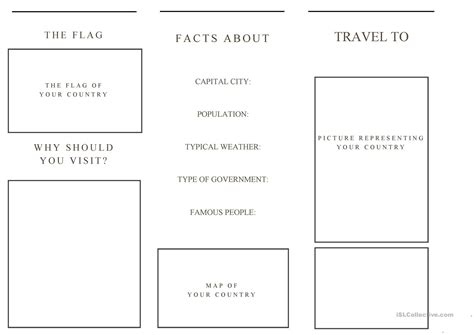 travel brochure templates for students travel brochure template and exle brochure worksheet