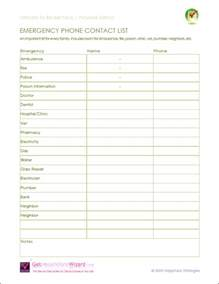 contact templates emergency contact list template