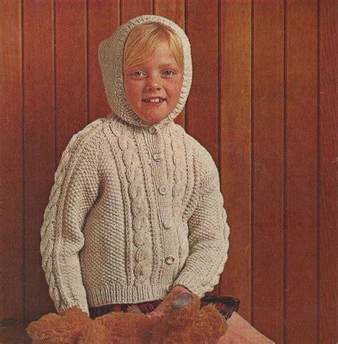 aran childrens knitting patterns pdf knitting pattern childrens aran hooded jacket cardigan