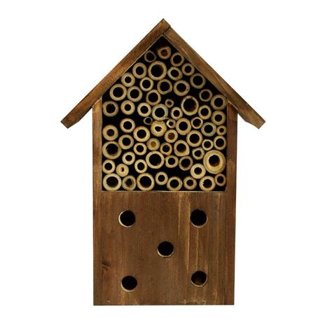 bambeco log cabin bee house 491568177 the home depot