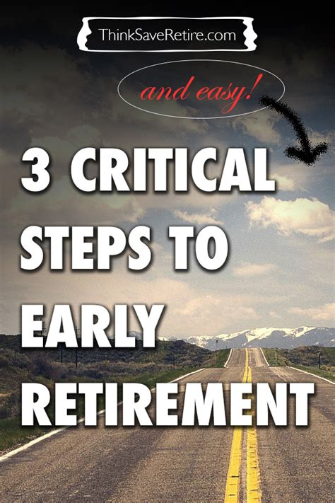 three requirements to retire early early retirement 3 critical steps to early retirement