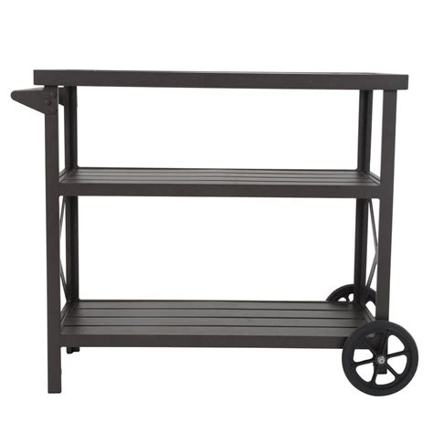patio serving carts on wheels keter unity 40 gal grill serving prep station cart with