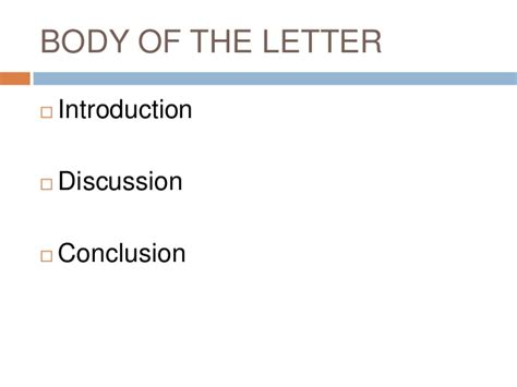 Elements Of Business Letter Ppt elements of business letter