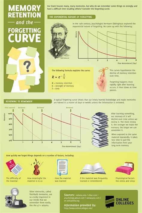 memory retention   forgetting curve infographic