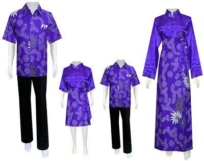 Dress D864 batik keluarga d864 ungu batik murah
