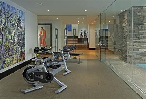 exercise room contemporary home toronto by