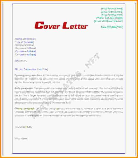 10 word cover letter template letter template word