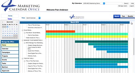 image gallery marketing calendar