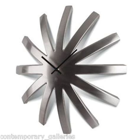 modern wall clocks stainless steel new modern contemporary brushed stainless steel dome wall
