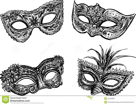 masquerade masks stock vector image 46426688
