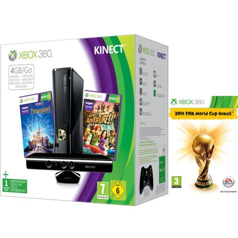new xbox 360 console 2014 xbox 360 4gb kinect bundle includes 2014 fifa
