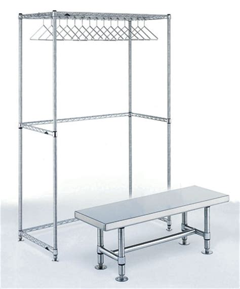gowning room racks for cleanrooms cleanroom shelving by