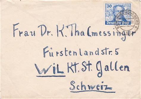 Brief Berlin Schweiz Brief 1949 Berlin In Die Schweiz 183 Philarena