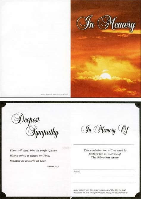 Memorial Donation Card Template by Sle Acknowledgement Of Memorial Donation Just B Cause