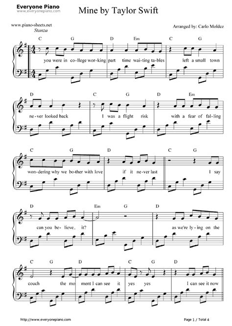 enchanted by taylor swift piano sheet music free online piano sheet music for taylor swift taylor