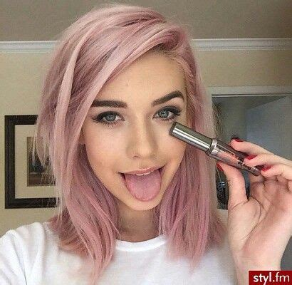 Zilbab Yasmina Top Dusty Pink pink hair lob hair lob pink hair and