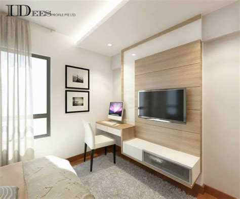 Bedroom Tv Console Design Study Hdb Dbss Parkland Residences Interior Design