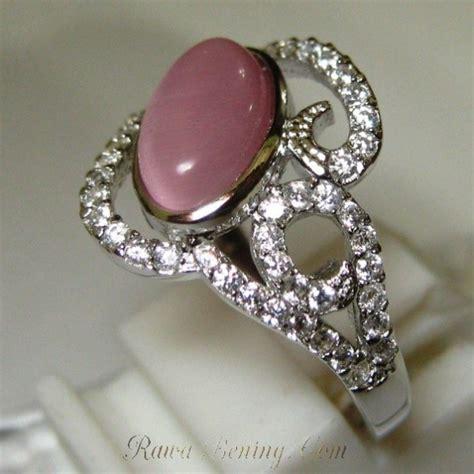 Sale Cincin Wanita Zircon Size 7 Silver cincin silver 925 pink cat eye quartz 3 7 carat untuk wanita