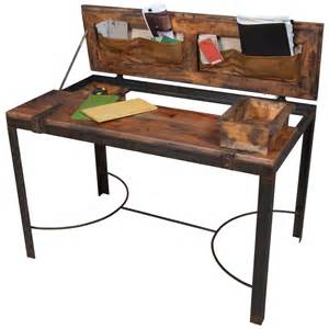 iron desk rustic iron and wood desk industrial chic