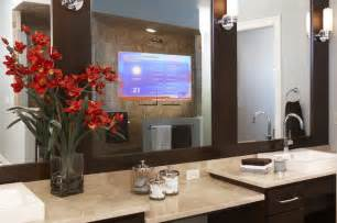 bathroom mirrors with tv enhanced series television mirror bathroom mirrors by